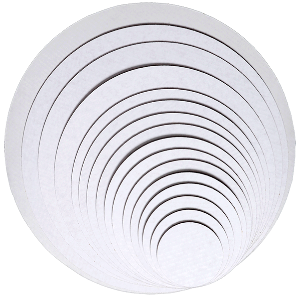 Uncoated white cake circles.